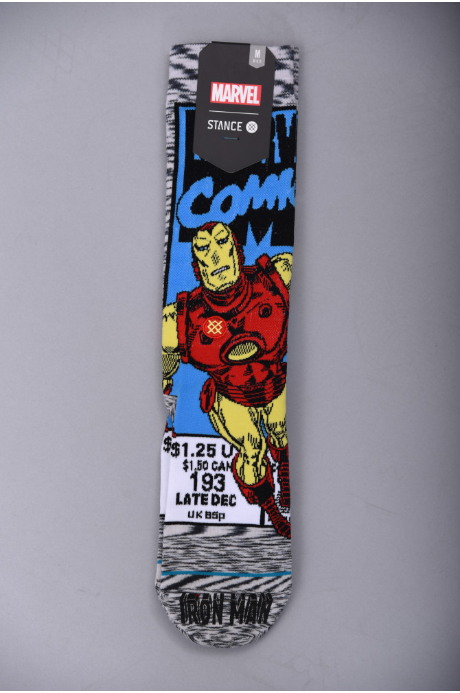 Stance Dtc iron man comic Annexe sportwear Goodies Chaussette Grey