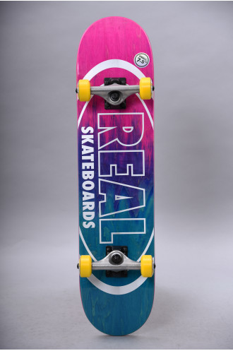 Real Skateboards Real Complete Metallic Oval...