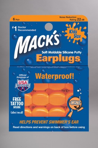 Combinaison Neoprene Mack's Ear Plugs Kids Silicone