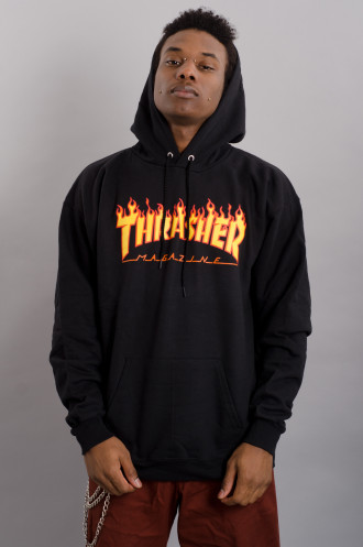 Vêtements Streetwear Thrasher Sweat Flame Hood