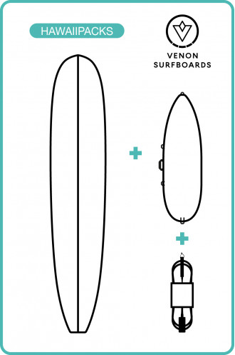 Sports Nautiques Pack Surf Longboard Venon
