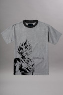 tshirts-&-chemises-primitive-t-shirt-ssg-goku-ss-grey-heather