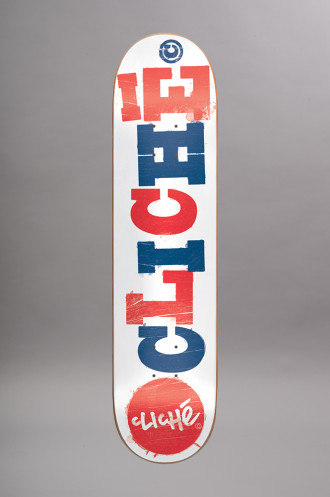 Skateboard Cliche Deck Woodcut 8.25...