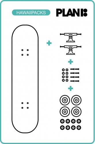 SKATEBOARD Pack Skateboard Plan B