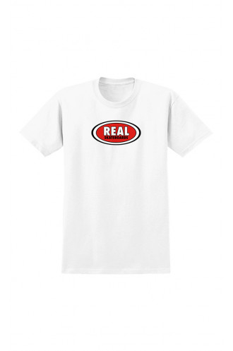 T-shirts Real T-shirt Oval Ss White